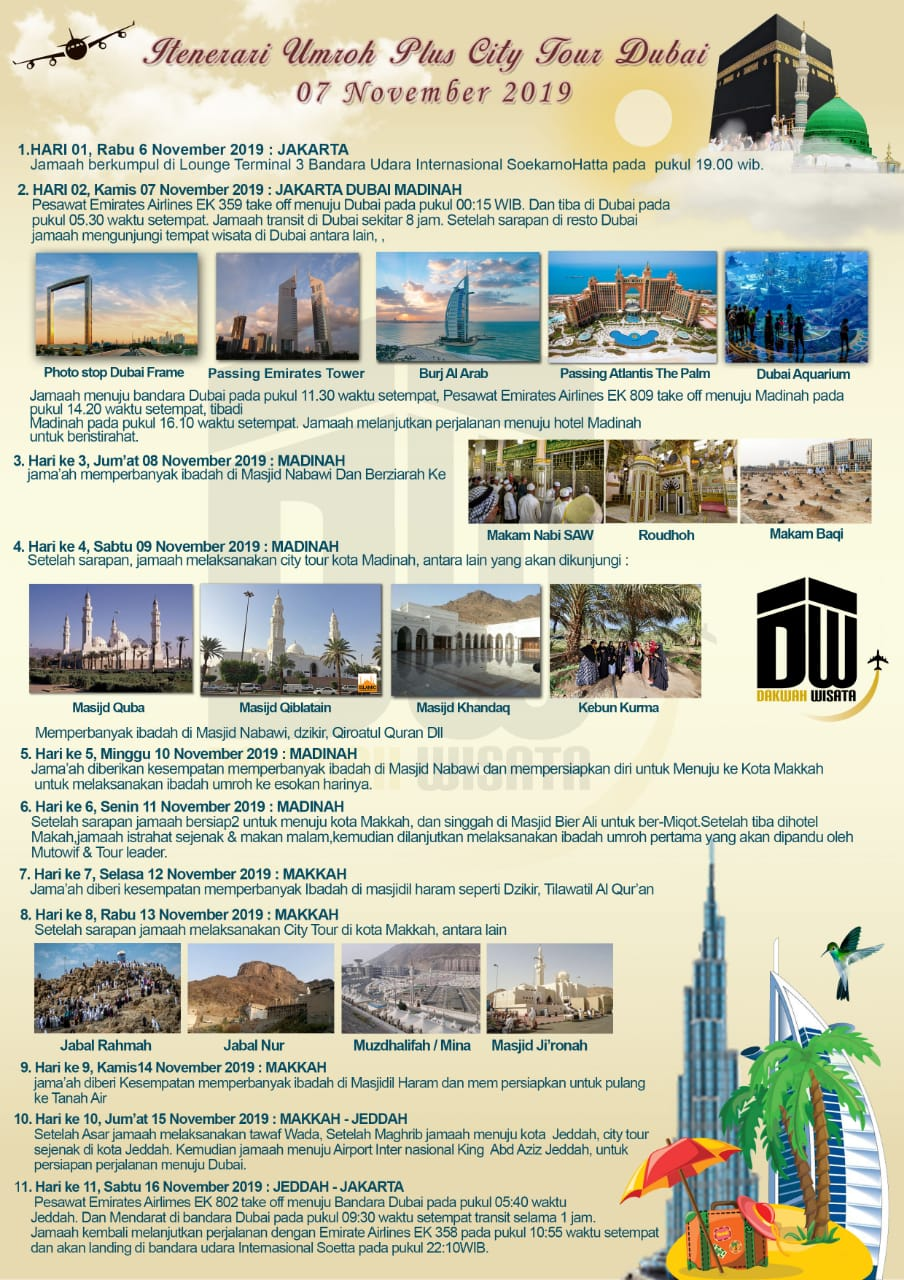 Program Umroh Plus Dubai 2019