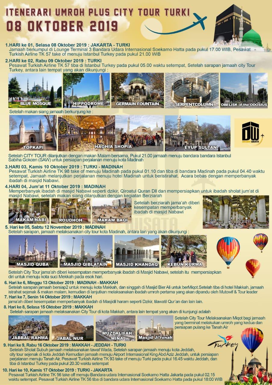 Program Umroh Plus Turki 2019